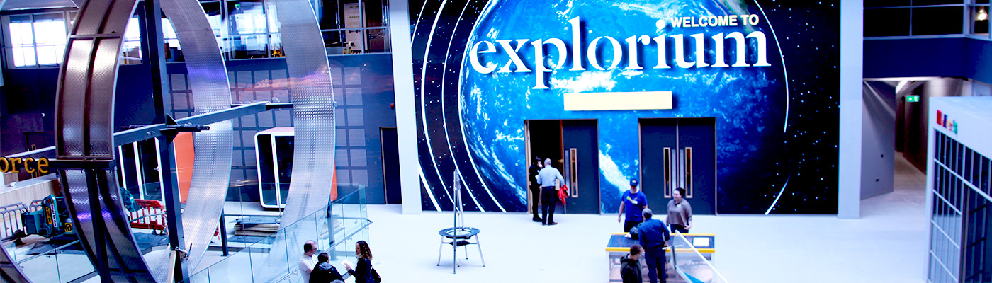 Explorium. LED Screen. Irelands new family day out. 300+ interactive exhibits. Explorium